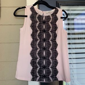 Loft Lace Detail Sleeveless Top